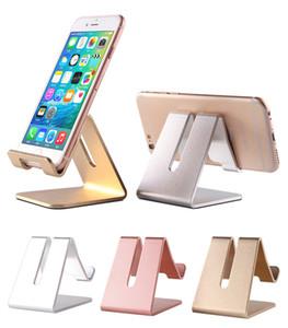 Universal Aluminium-Metall-Handy-Tablette Halter-Schreibtisch-Standplatz für iPhone 7 Plus-Samsung s8 und ZTE Max XL mit Kleinpaket