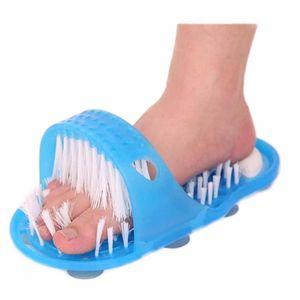 2 шт./лот легкий массаж ног душ ноги чище скруббер стиральная машина ноги магия ноги чище бытовой ванная комната камень массажер тапочки синий