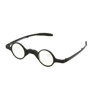 نظارات القراءة قابلة للطي مستديرة الشكل الرجعية مع طوي حالة قصو البصر طول النظر الشيخوخي الجيب الجيب +1.0 إلى +3.5
