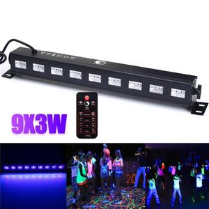 27 w Led Bar Siyah Işık UV Mor LED Duvar Yıkama Lambası 9x3 W Peyzaj Işıkları Sahne Aydınlatma Etkisi Işık veya DJ Parti Noel