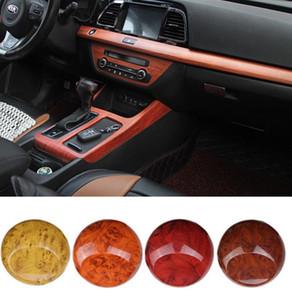 Couleur intérieure de la voiture grain de bois changeant 7 couleur de la voiture en option film autocollants intérieurs voiture grain de bois intérieur film de glace pêche bois stic