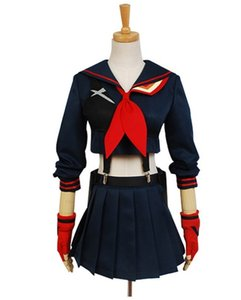 Halloween KILL la KILL Girls Battlesuit Ryuko Matoi Dress Outfit Cosplay Costume