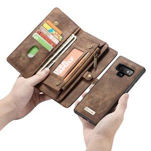 CaseMe Кожаный чехол для Samaung Galaxy s7 edge s8 s9 plus Съемный 2 в 1 молнии Кредитная карта Кошелек для денег Чехол для Samsung Note 8 9 чехол