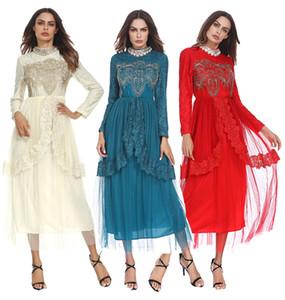 Dubai Abaya Muslimisches Volles Kleid Schöne Muslim Brautkleid Robe Musulmane Longue Frauen Lange Weiche Spitze Abaya Kleid