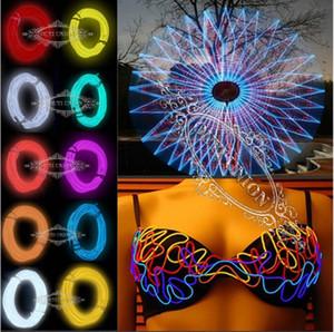 Saco de mão decoração exterior 5 metro de luz de neon flexível tubo de corda de fio EL Car + controle da bateria 1 conjunto XMAS