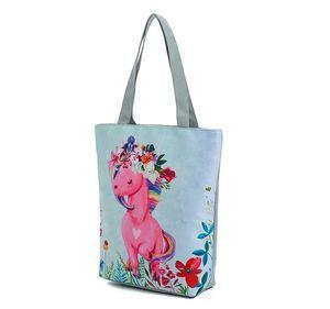 35pc 2018 New creative Women Shoulder Bag Cartoon unicorn pattern Handbag Casual Shopping tote Cotton Messenger Bag free shipping