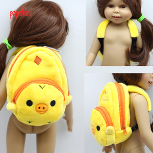 1pcs yellow backpack fit 18 inch 1 3 American girl doll\doll accessories(only sell bag)