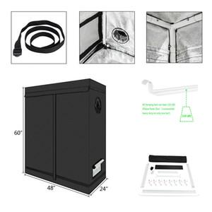 """48 """"x24"""" x60"""" Wachsen Zelt Raum Innen 600D Reflective Mylar Non Toxic Hut hinzufügen Zipper"""