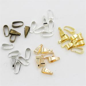1000pcs / lot Clipes 7 milímetros pingente de Fechos pitada Clipe Bail Pendant Conectores Apreciação Jóias DIY peças jewely acessórios