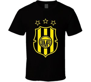 Club Olimpo Argentina Primera Divisão Soccerer Team Footballer Club Camiseta Casual T Camisa Masculina de Manga Curta Padrão