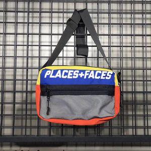 LUGARES + FACES Backpack P + F cintura Bag Messenger Bags Belt Bag Men pochete Stylist Men cintura pack Graffiti Bolsa pequena barriga Bolsas