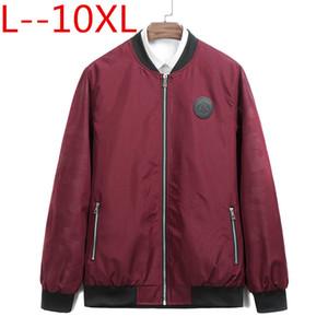 9XL 8XL 6XL 5XL 2018 New Spring Black Red Bomber Jacket Hombres Streetwear Hip Hop suelta Fit Pilot Bomber Jacket Coat Hombres Chaquetas