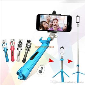 로고 인쇄 Selfie 스틱 + 삼각대 + Bluetooth 타이머 selfie monopods 확장 가능한 셀프 가이드 Selfie 핸드 헬드 스틱 리모컨 셔터