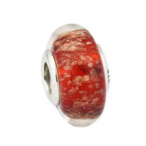 Se adapta a Pandora Pulsera Charms 925 Sterling-Silver-Jewelry Red Twinkle Murano Glass Granos de plata para mujer Jewelry DIY Accessories