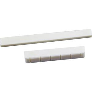 2 قطعة من (White Guitar Parts 6 سلسلة Classic Guitar Bone Bridge Saddle and Nut Ivory Set)