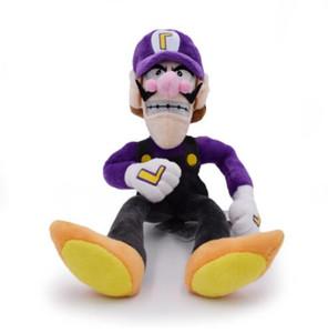 Alta Qualidade 11 '' 28 cm Super Mario Bros Irmãos Waluigi Peluche Cor Roxa Recheado de Pelúcia Macia Brinquedos Bonecas Caçoa o Presente, 1 Unidadespacote