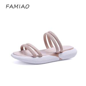 vente en gros femmes pantoufles été plage sandale pantoufles tongs en plein air dames mode casual appartements chaussures sapato feminino