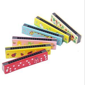 Детские дети ребенок красочные деревянные гармоника игрушки образовательные музыкальные духовой инструмент для детей подарок Подарок