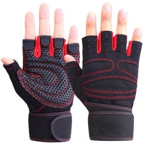Guanti da sollevamento pesi Guanti da fitness Mezzi guanti da fitness Guanti da sollevamento pesi Proteggere il polso da palestra Allenamento senza dita Guanti sportivi