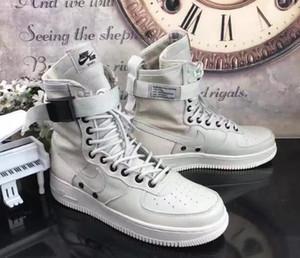 Mais novo Campo Especial SF Para 1 One black Men Mulheres Botas de Cano Alto Tênis De Corrida Sneakers Revela Utilitário Botas Armado Sapatos Clássicos
