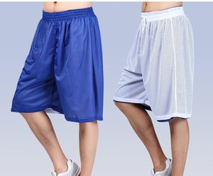 All'aperto 2017 Active Double-sided Traning Giocatore Gioco Uomini Streetball Beach Loose Soft coulisse Pantaloni corti Plus Size XS-XXL