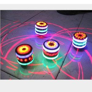Building Toys Kids Toy Vinyl Gyro Colorful Flash Light-emitting Red Laser Line Gyro Magic Music Gyroscope Gifts for Boys Children AHET
