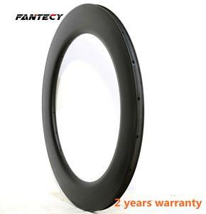 ruedas ruedas 700C de carbono de alta marco 88 mm Profundidad 25 mm Anchura carbono de una sola llanta para cubierta / Tubular bici del camino de fibra de carbono completa