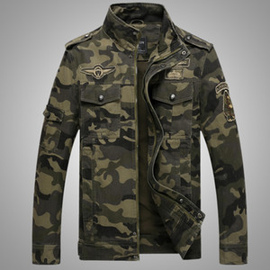 2018 Outono Inverno mens Camo Tactics jaqueta de concha macia Um casaco do exército masculino colarinho Em Pé zipper outwear