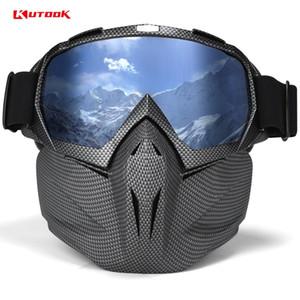 Kutook uv 400 عدسة مزدوجة نظارات التزلج على الجليد مكافحة الضباب نظارات القضية مع نظارات واقية للجليد معدات التزلج قناع تزلج