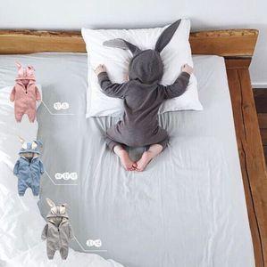 Cute Rabbit Ear Hooded Babyspielanzug Für Babys Jungen Mädchen Kinder Kleidung Neugeborenen Kleidung Overall Infant Kostüm Baby Outfit