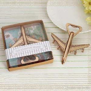 50pcs lot Fast Shipping Airplane Bottle Opener New Wedding Gift Favors Retial Package Box Free DHL XL-232