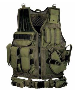 Camouflage Caccia Tactical Vest Wargame Corpo Molle Armatura Caccia Gilet CS Outdoor uniforme Vest Giungla Attrezzature 6 Colori mk0452