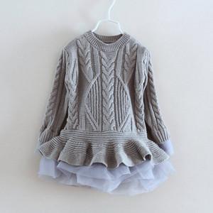 Chandail de mode pour filles de 3 à 8 ans, vêtements de tutu pour bébés enfants printemps / automne / hiver, vêtements de boutique pour enfants, R1BB509TS-01, commerce de détail