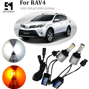 Livraison gratuite 2x Auto led lumière feux de jour Turn Turn Signals pour Toyota Highlander Prado RAV-4 T20 WY21W 7440