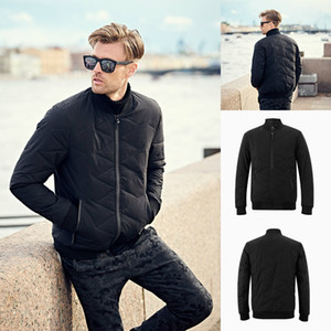 2018 Mens Designer Jackets Black Cotton Winter Coats In Stock High Quality Jacket Plus Size S-4XL