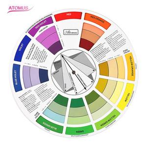 Accessori per Inchiostro del Tatuaggio Trucco Permanente Micro Guida per la ruota dei colori del pigmento Seleziona i colori per i capelli della spazzola del pigmento della ruota del tatuaggio