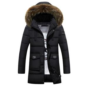 2018 الشتاء سميكة الدافئة رجل طويل مبطن سترة مقنعين البخاخ معطف الفراء الحقيقي طوق سترة أوم 3xl 4xl زائد الحجم chaquetas hombre