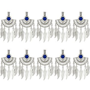 10 unids / lote Plata Half Moon Beaming Sun Fan Shapes Filigrana nativa cuelga los granos de la pluma de la perla de la jaula Locket colgante