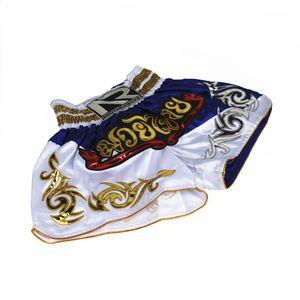 Os recém-chegados Muay thai calções chute boxe shorts mma luta troncos curto mma combate calças esporte Preto Vermelho prata para mulheres dos homens