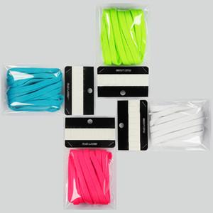 Caliente negro naranja verde cordones extra cordones 3 colores zapatos cordones para 10 serie zapatos plano redondo disponible