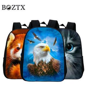 Nueva mochila pequeña estampado animal Eagle Kindergarten Cartoon Bag Estudiante bandolera para niños Kanken Mini mochila Mochilas lindas