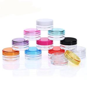 Cosmetics Jar 5g Round Bottom Cream Box Wax Oil Storage Containers Food Grade Plastic Box Case Dry Power Dab Tools Dabber Good Flavor nt