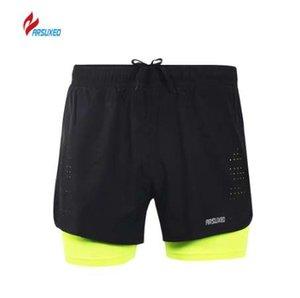 ARSUXEO Yeni Koşu Şort Erkekler Nefes Örgü Aktif Eğitim Egzersiz Koşu Spor Şort Homme Spor Şort Erkek Spor