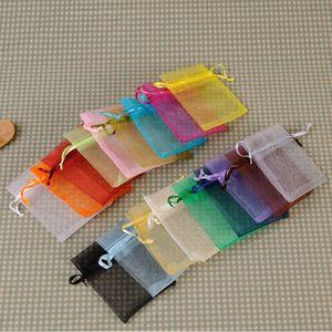 Yeni Gelmesi 7x9 cm İpli Çanta Organze Takı Çanta Hediye Parti Favor Şeker Ambalaj Düğün Dekorasyon W7309