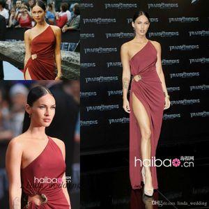 Transformers Estreno Megan Fox Vestido de noche Lado Raja Alfombra roja Celebrity Ocasión Dresse Vestido de fiesta Vestido de fiesta