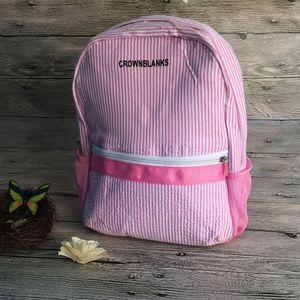 CROWNBLANKS Personalizza Zaini per bambini Comoda borsa da viaggio zaino scuola di Seersucker Perfect Quality