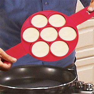 DIY Flippin Fantastique Antiadhésif Pancake Maker Oeuf Anneau Maker Perfect Pancakes Facile Silicone oeuf moule à crêpes expédition rapide