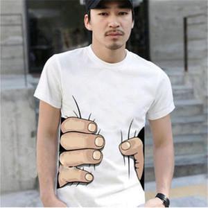 Mens Designer T Shirt Pour Hommes D'été De Luxe Chemise À Manches Courtes Casual Lâche Avec La Grande Main 3D De Compression Tops Vêtements Hommes Noir Chemise Blanche