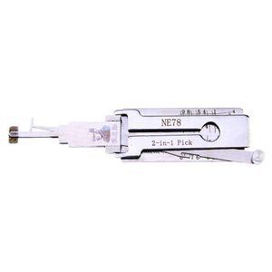 LISHI Peugeot NE78 2-in-1 Auto Pick و Decoder Locksmith Tools Lock Pick Up مجموعة قفل اختيار مجموعة