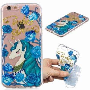Para iphone xr xs max x 8 7 6 6 s se 5 5S Alívio Macio TPU Silicone Flor Cão Cão Elefante Panda Coruja Árvore Gato Unicorn Telefone Celular Capas de Pele